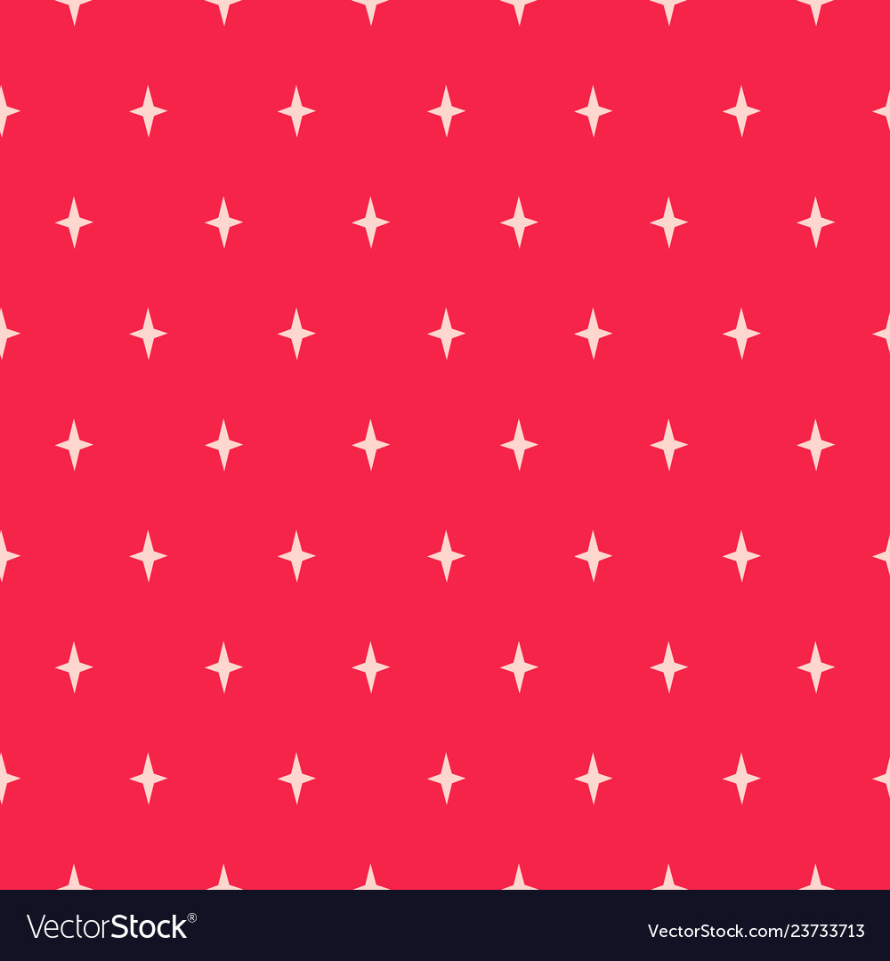 Simple star shapes red seamless pattern