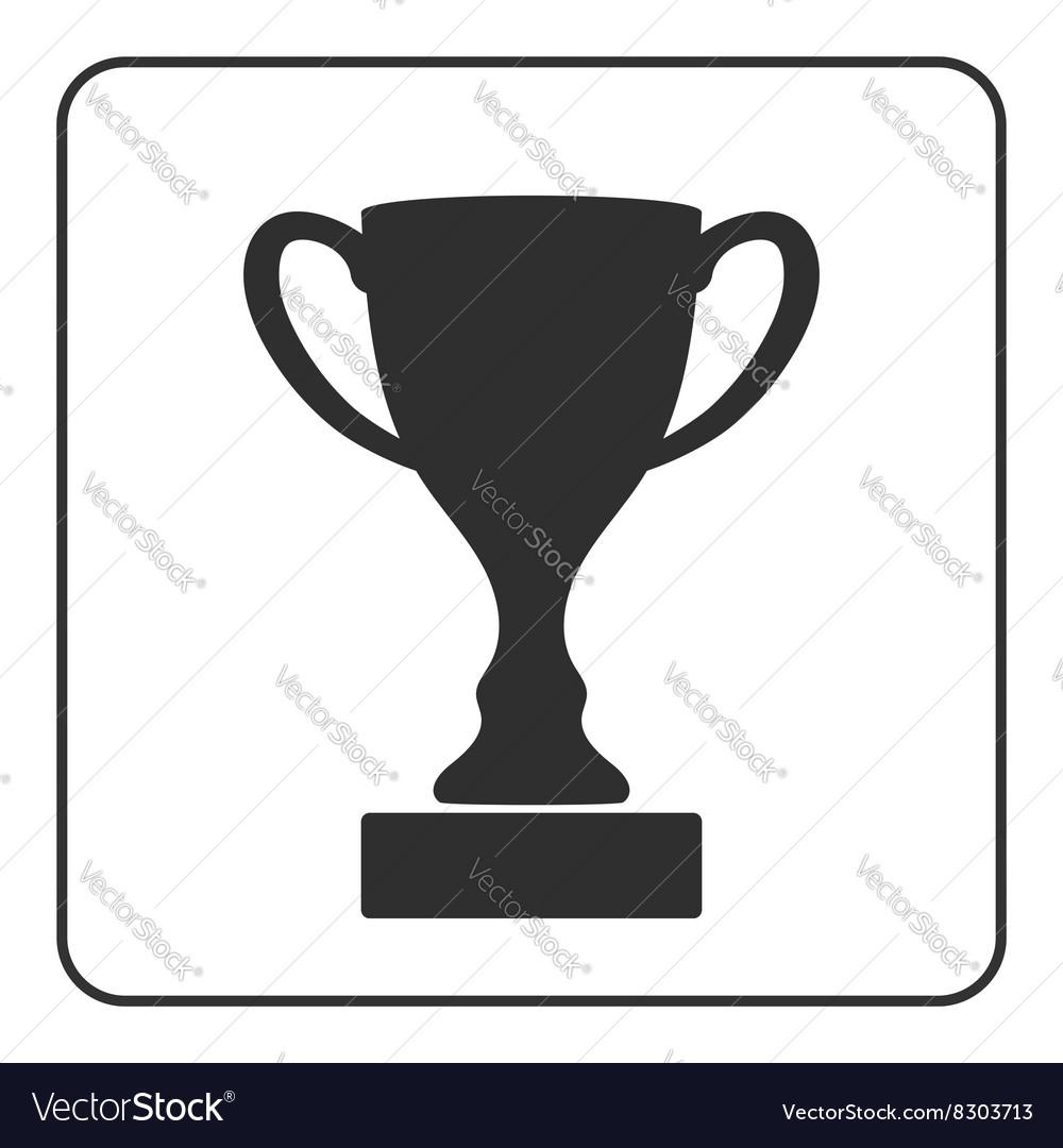 Trophy cup icon 2 vector image