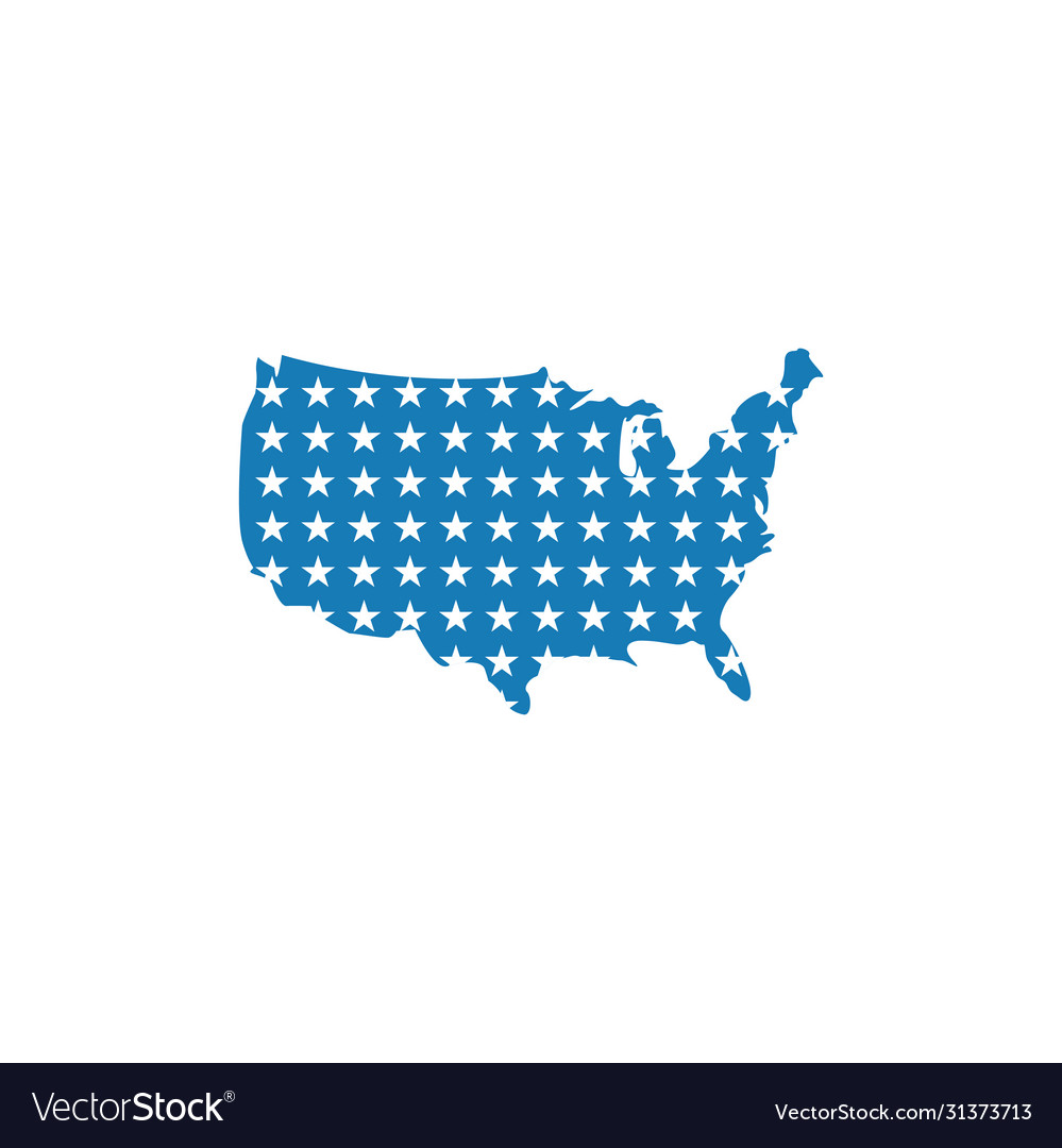 Usa map graphic design template isolated