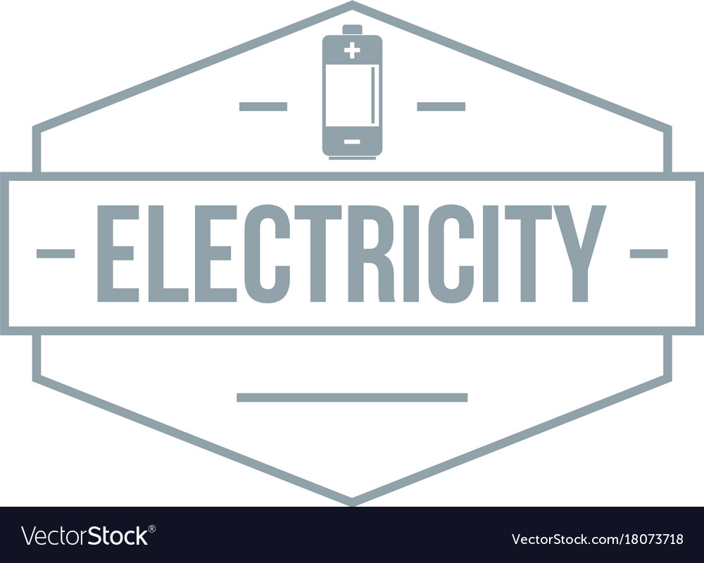 Battery logo simple gray style