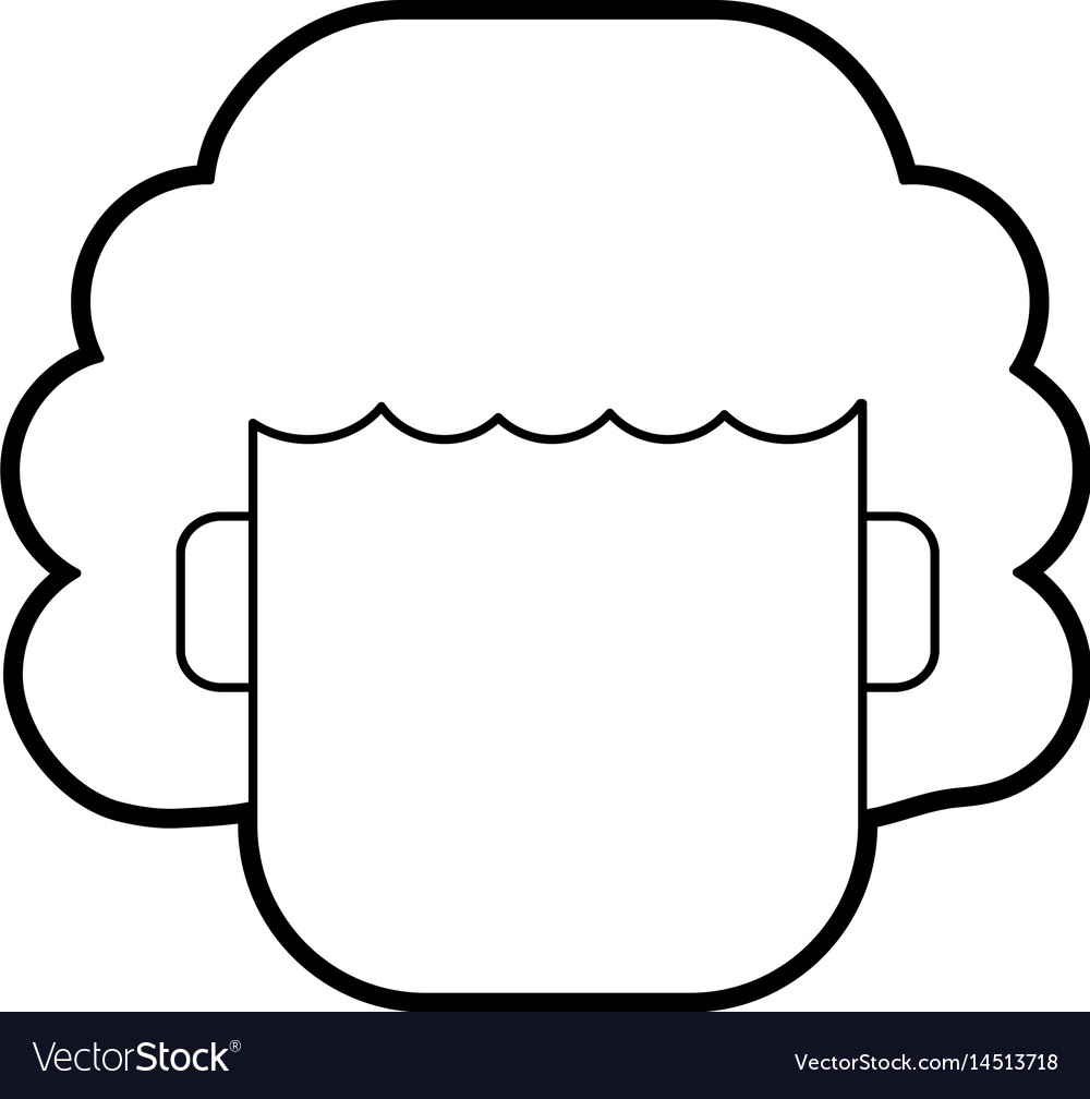 Faceless Woman With Short Curly Hair Icon Image Vector Image