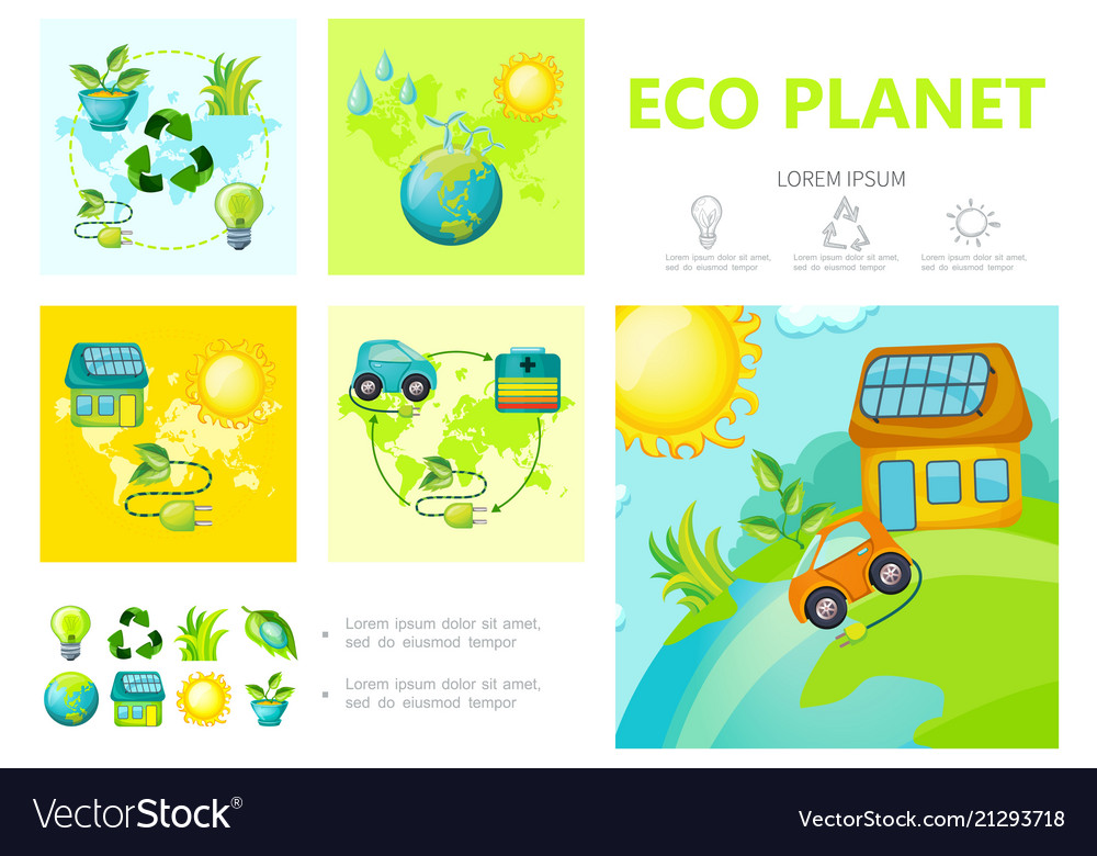 Flat ecology infographic template