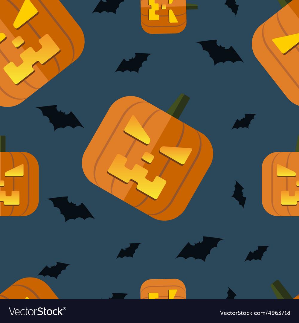 Halloween pumpkin background vector image