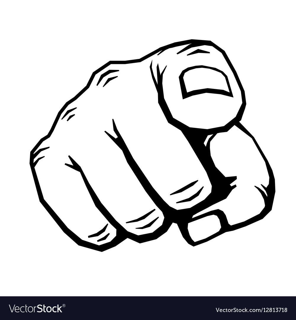 hand with finger pointing royalty free vector image vectorstock