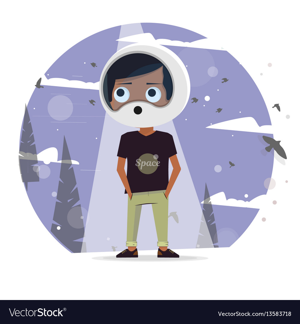 Kids dream of astronauts to vector image