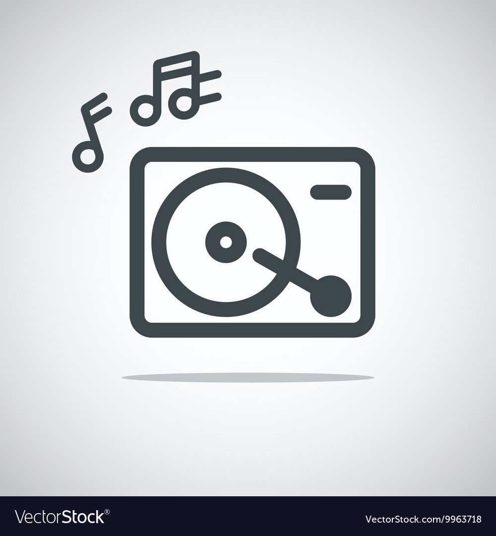 Modern media web icon Music player