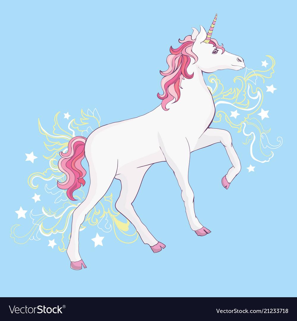 Unicorns Are Real Quote Drawing Cute Unicorn