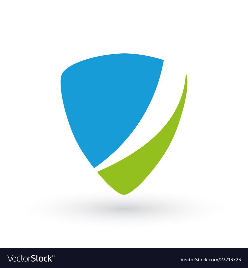 Blue and green identity badge label emblem logo