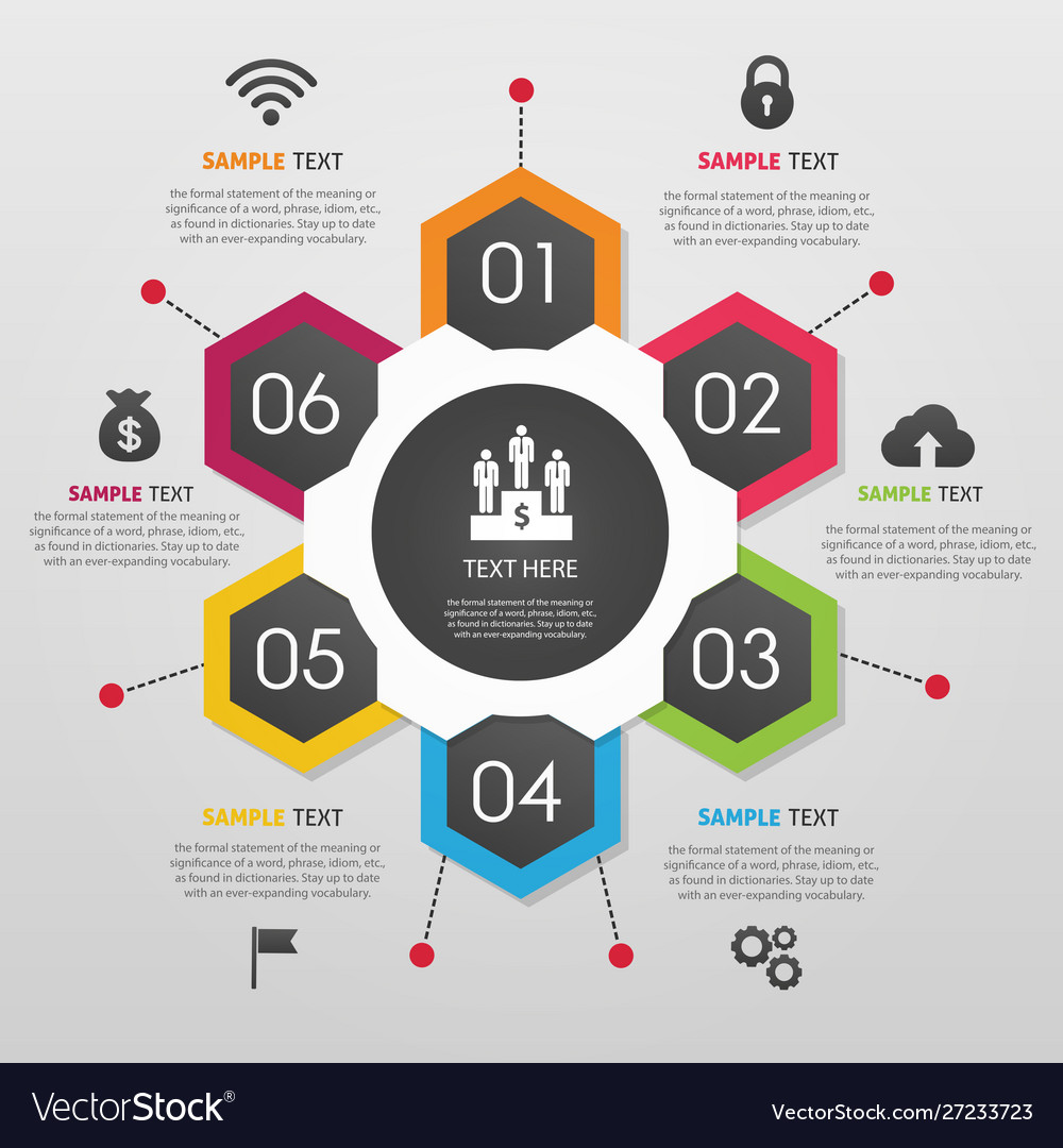Business colorful infographic background
