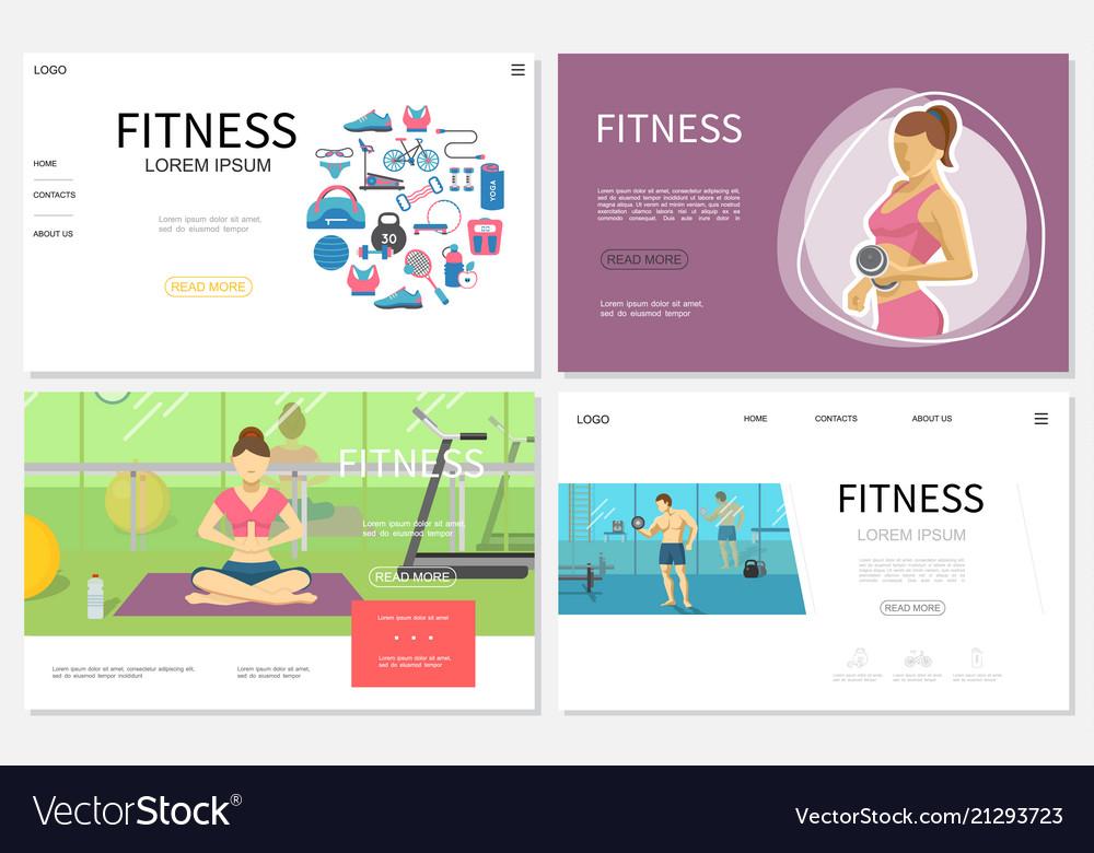 Flat fitness websites set