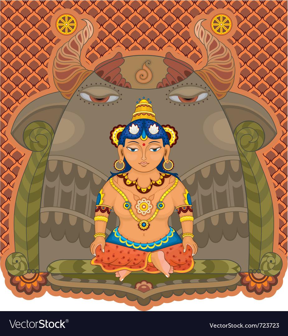 Girl india goddess vector image