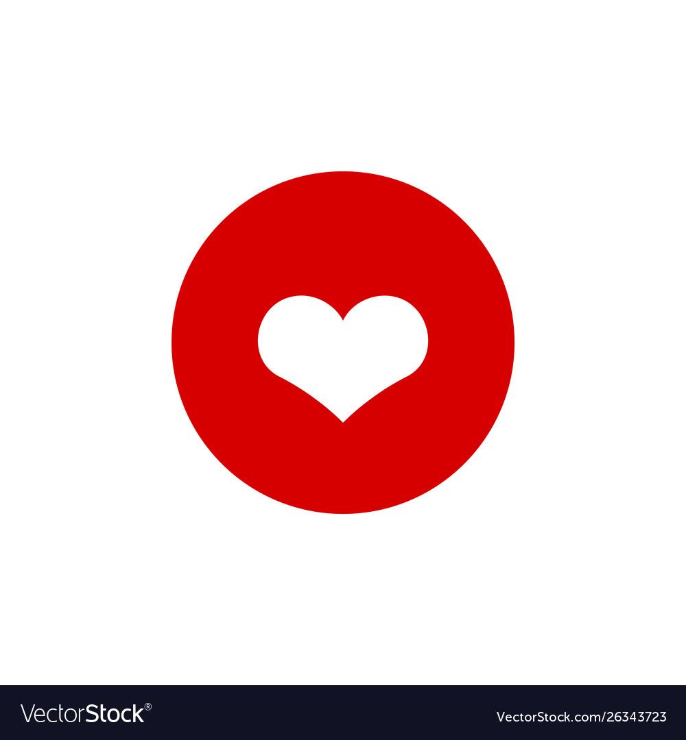 Heart icon graphic design template