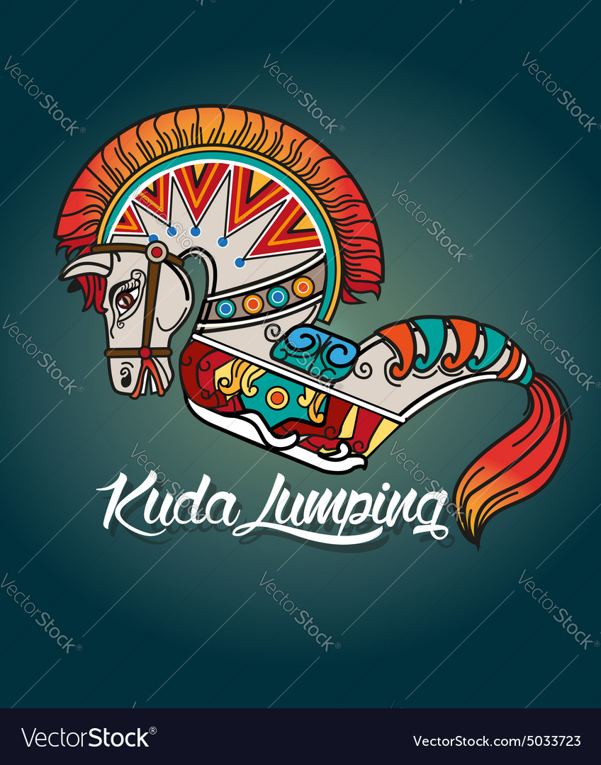 Kuda Lumping Or Horse Braid Royalty Free Vector Image