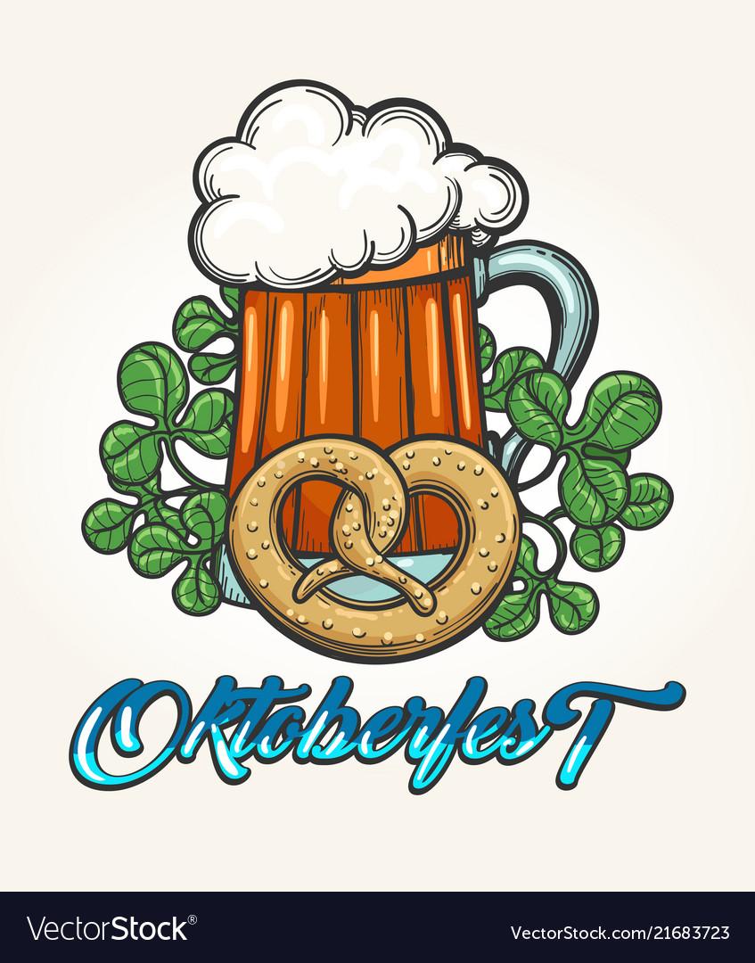 Oktoberfest hand drawn emblem