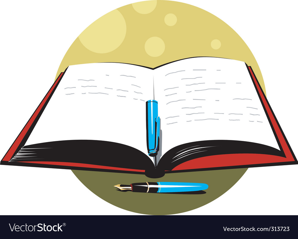 Pen And Book Royalty Free Vector Image