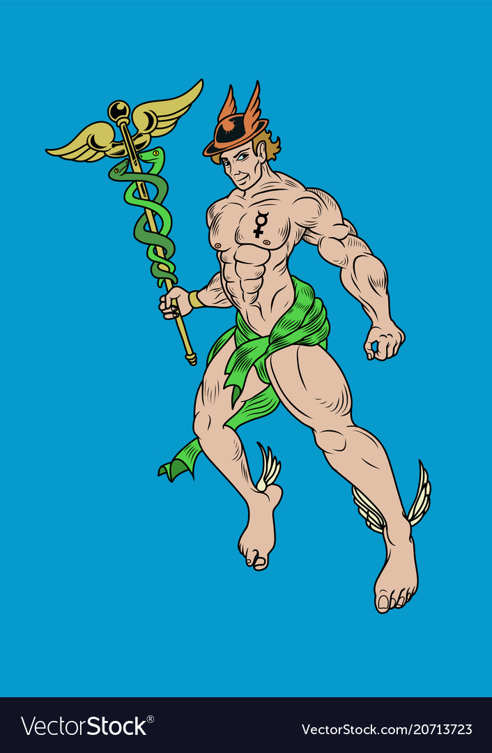 Representation greek god hermes also known as