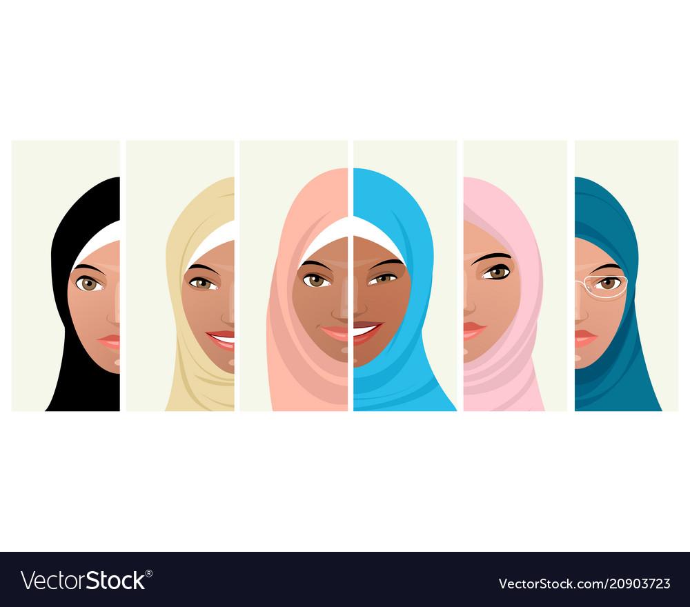 Six faces of muslim women