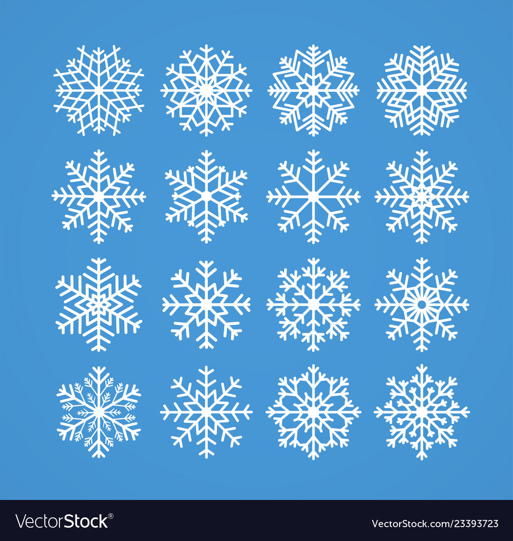 Snowflakes winter christmas frosty snow line