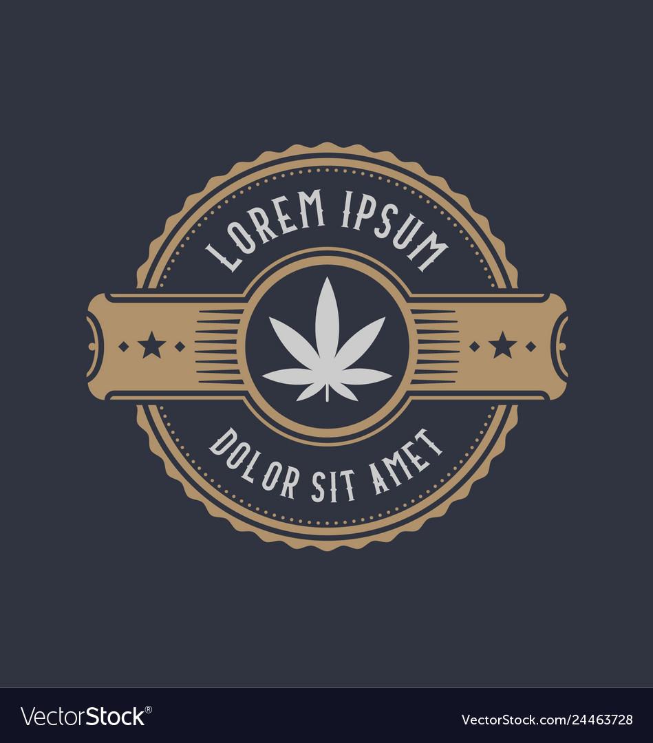Brand identity design symbol of marijuana