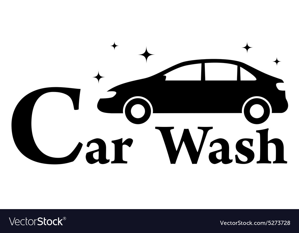 Car Wash Icon With Clean Automobile Royalty Free Vector