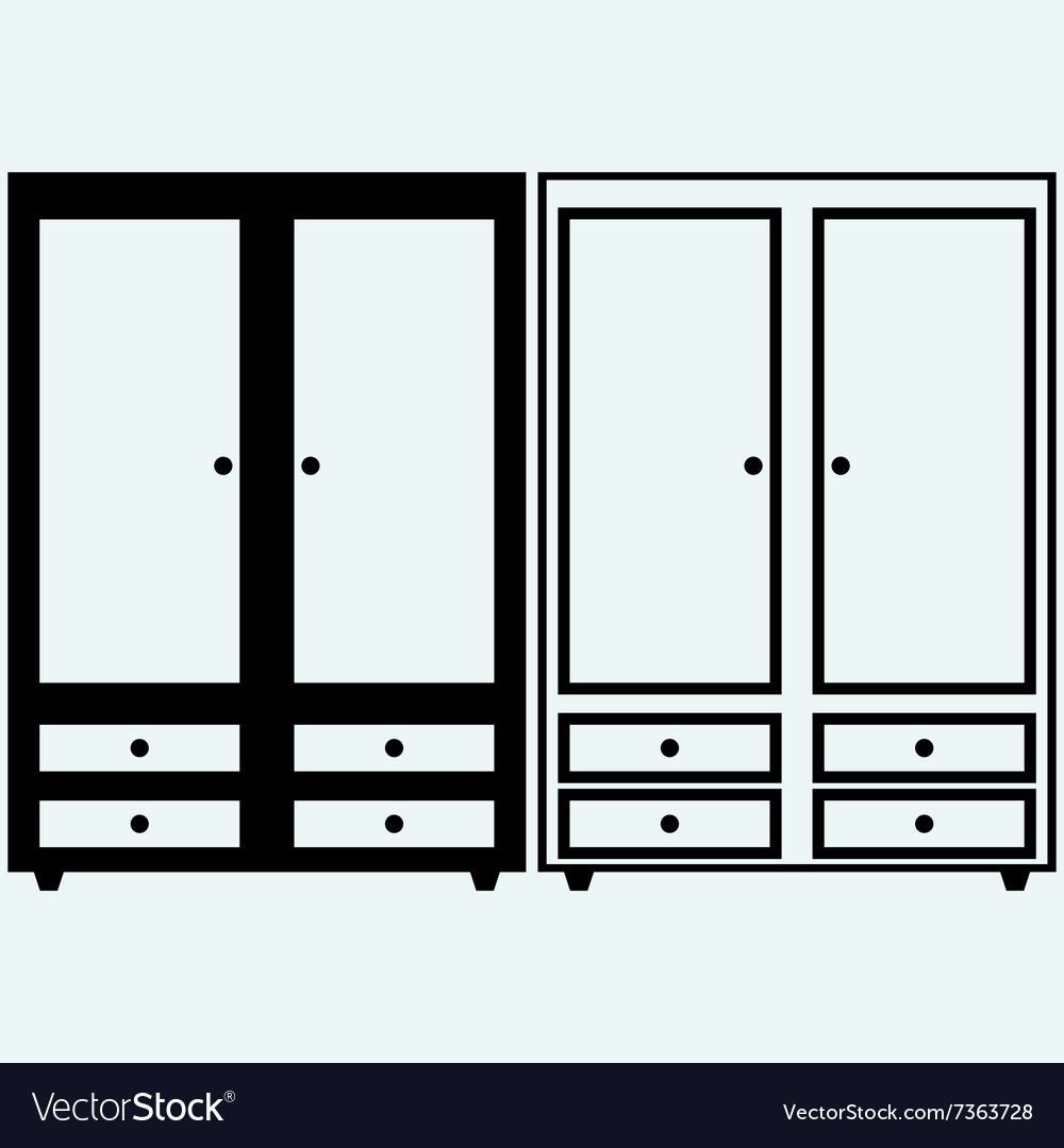 Closed cupboard vector image
