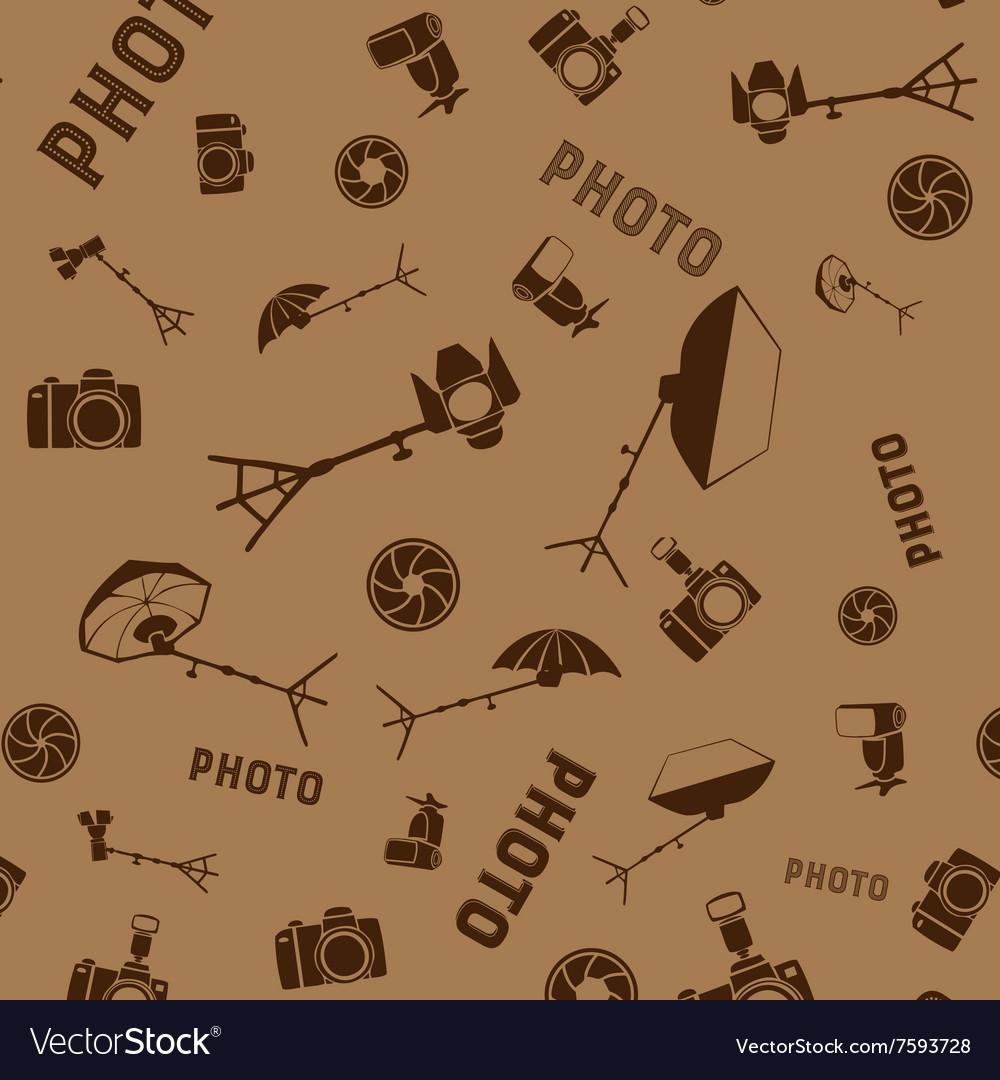 Photo studio tools seamless pattern