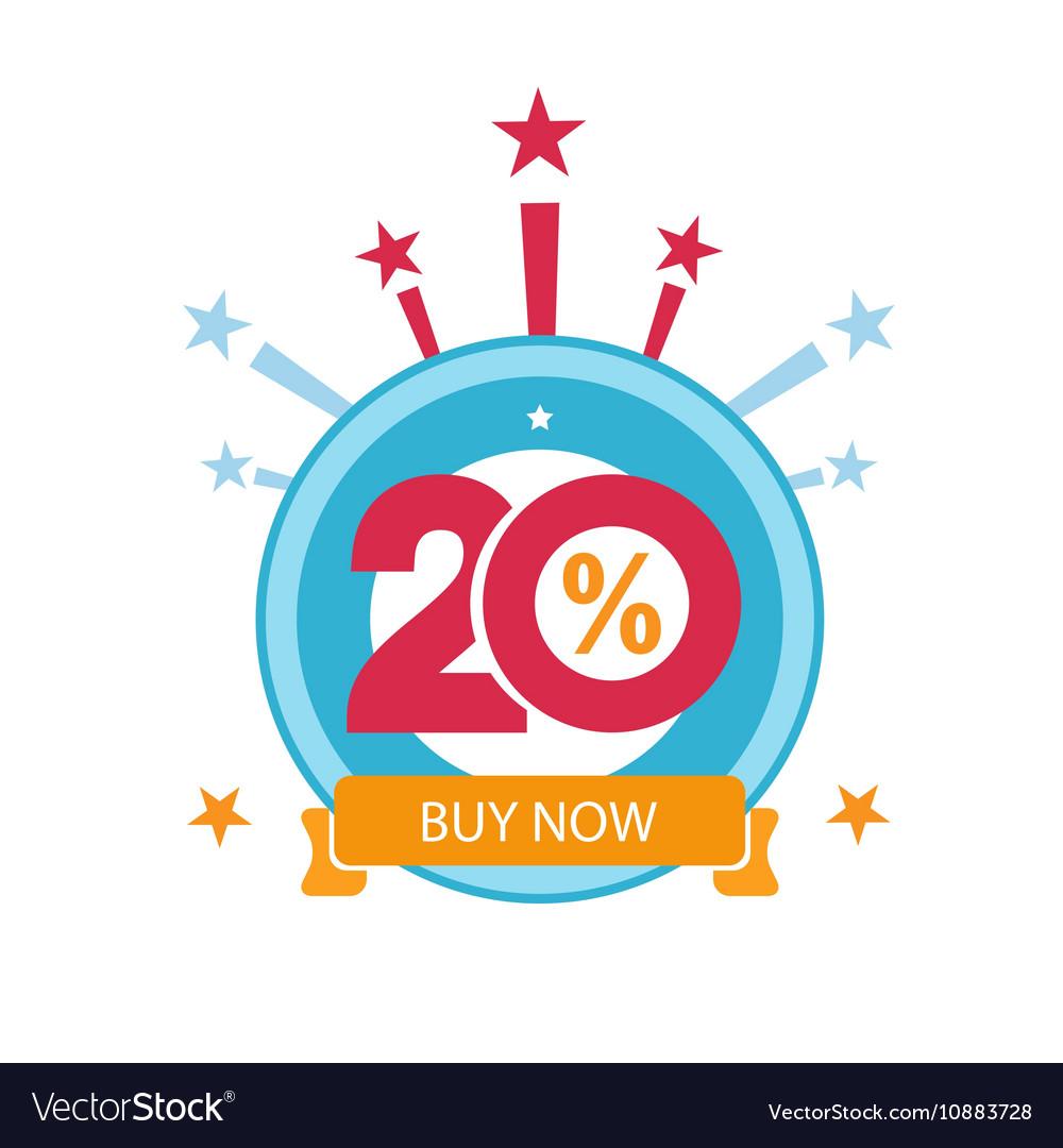 Twenty discount icon Sales design template