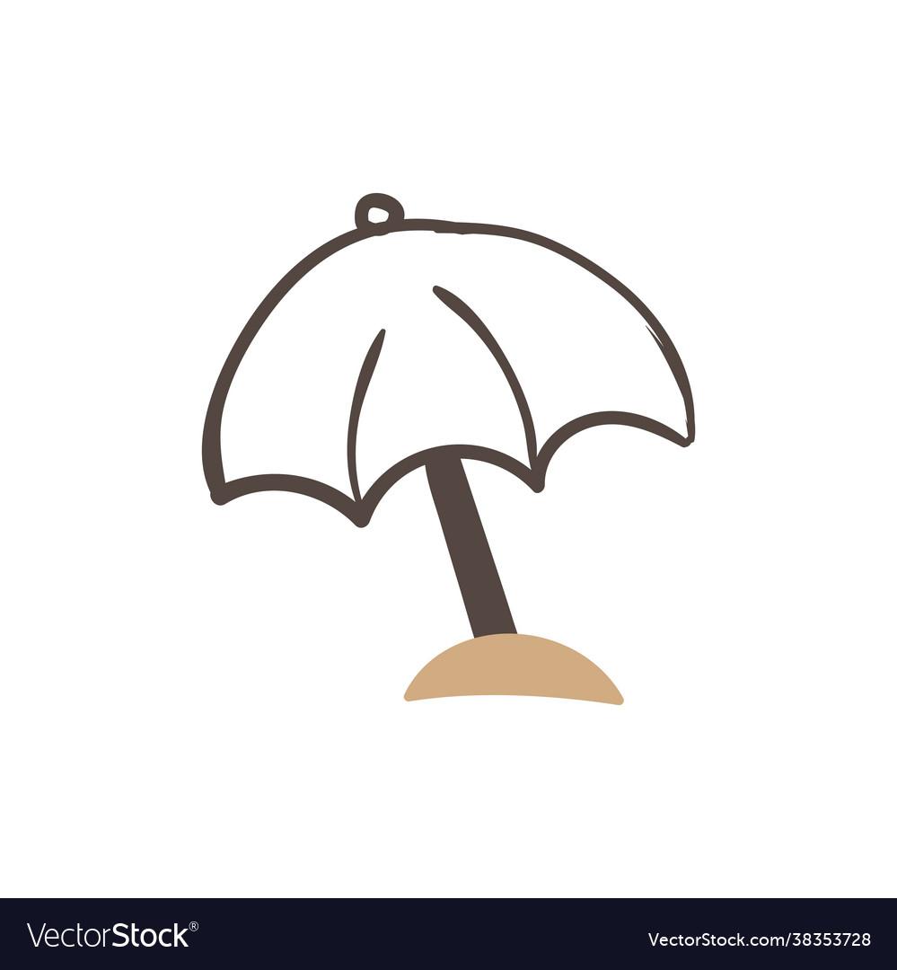 Umbrella beach icon design template isolated