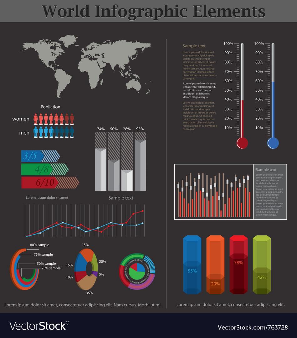 World infographic elements