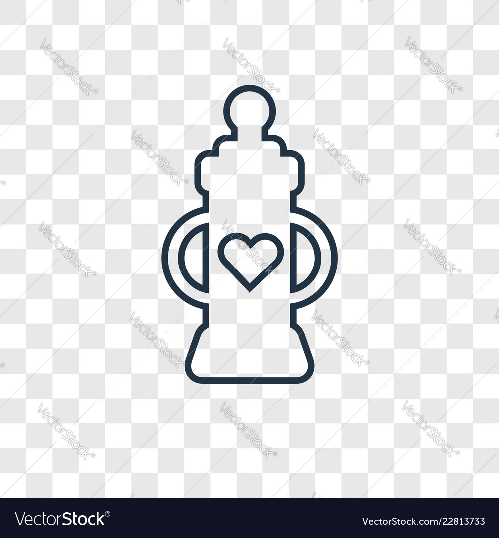 Baby bottle concept linear icon isolated on