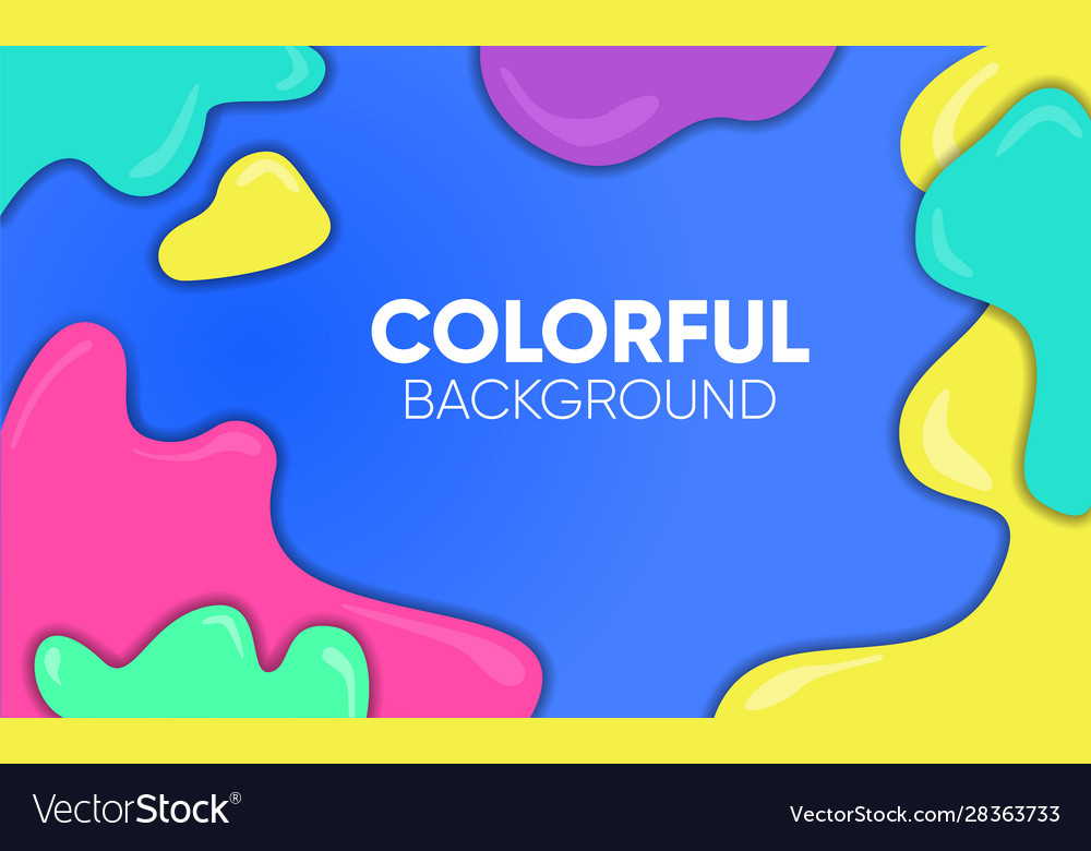 Background liquid colorful vector