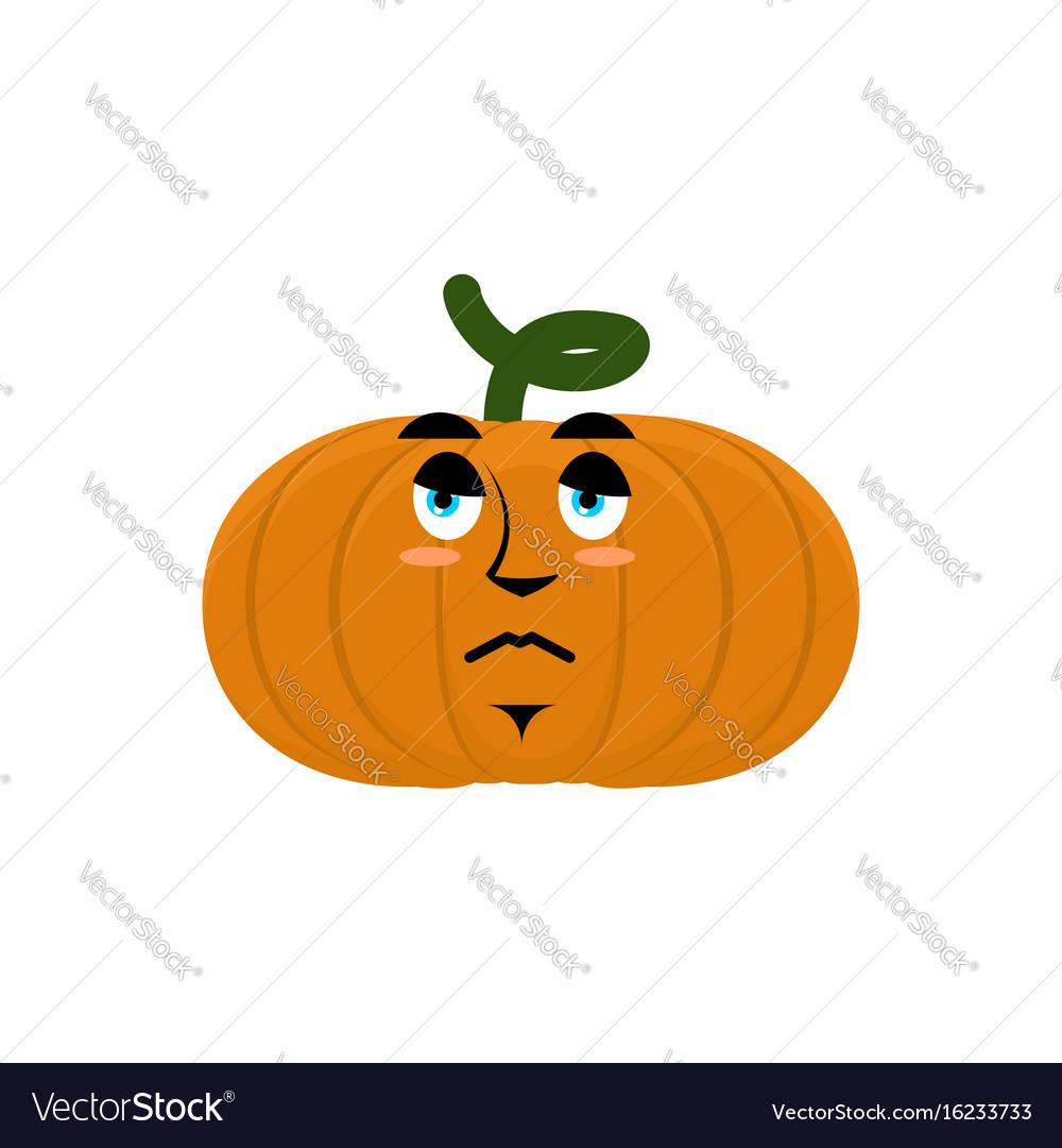 Pumpkin sad angry emoji halloween vegetable