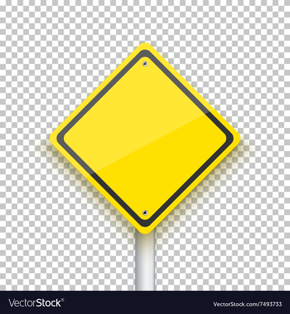 Road Sign Realistic EPS10 Yellow