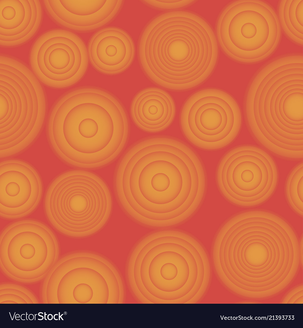 Seamless gradient rounds red and orange