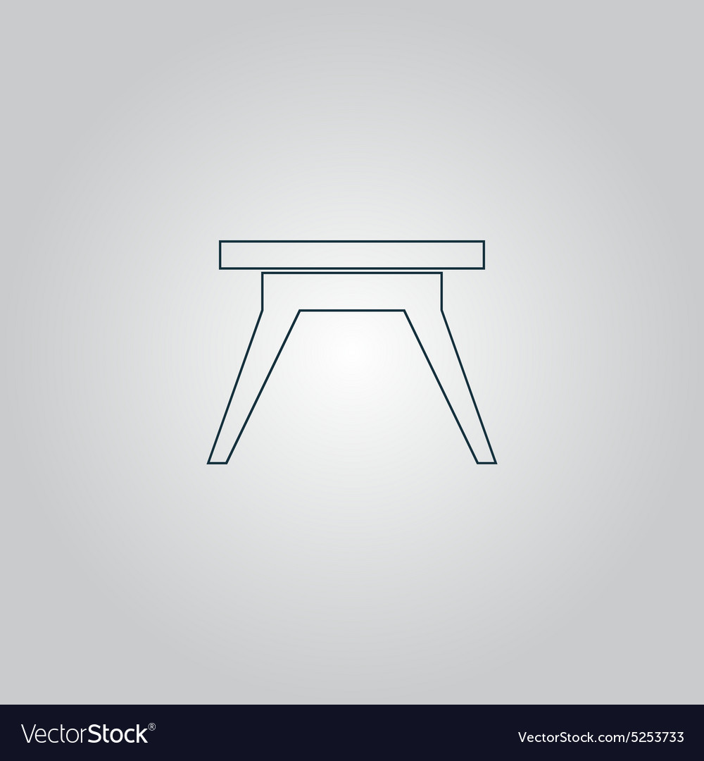 Small Table Icon Sign And Button Royalty Free Vector Image