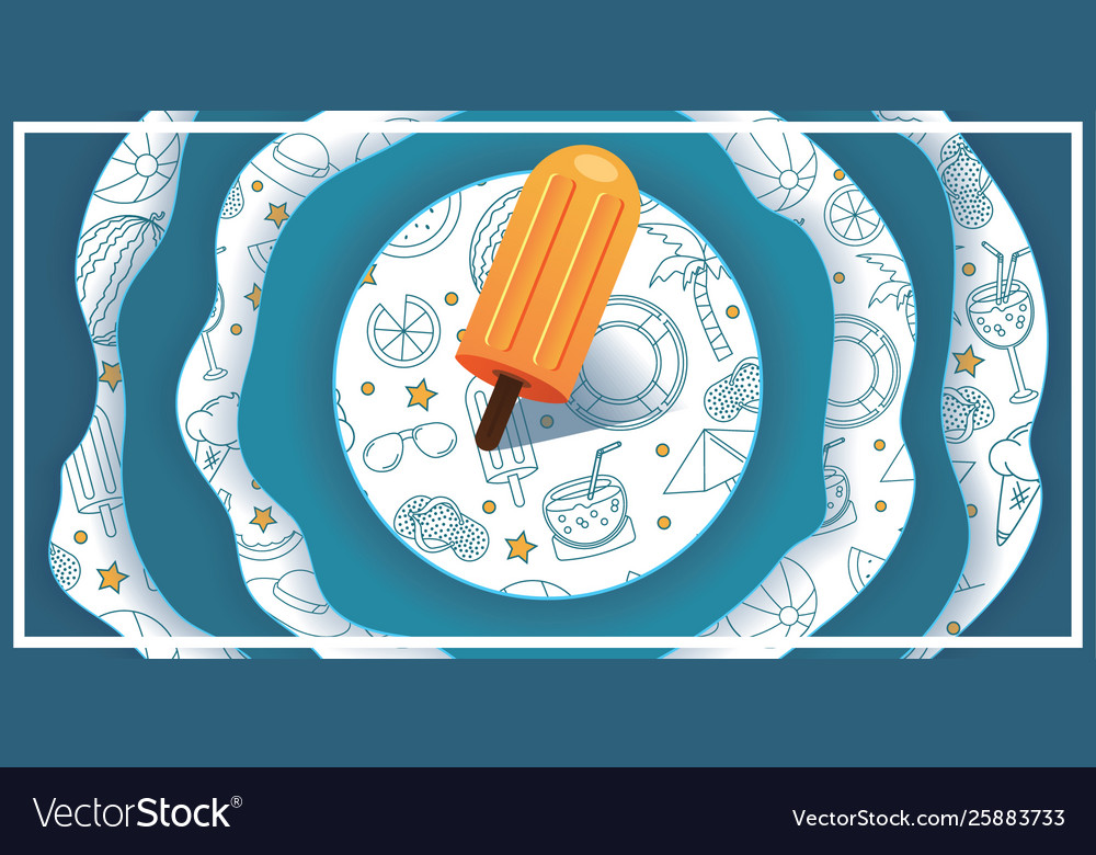Summer juicy abstract background design