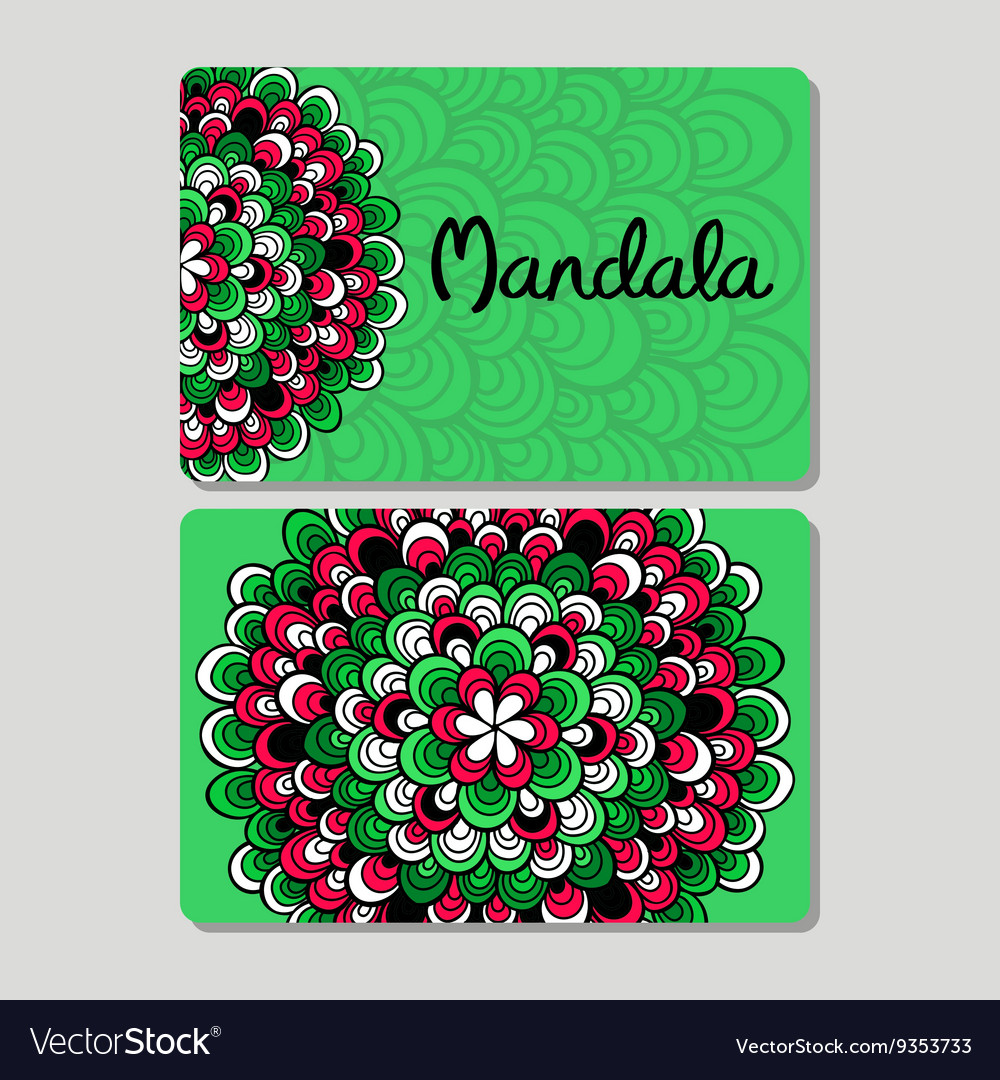 Visiting card and business card set Abstract vector image