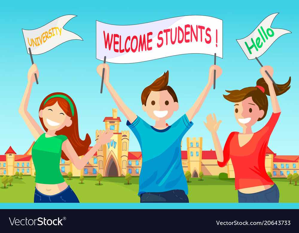 Welcome new students to university