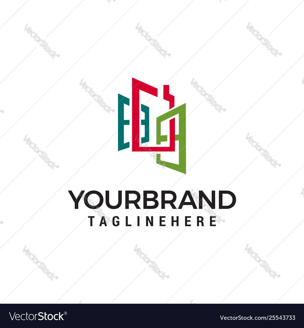 Windows logo design concept template