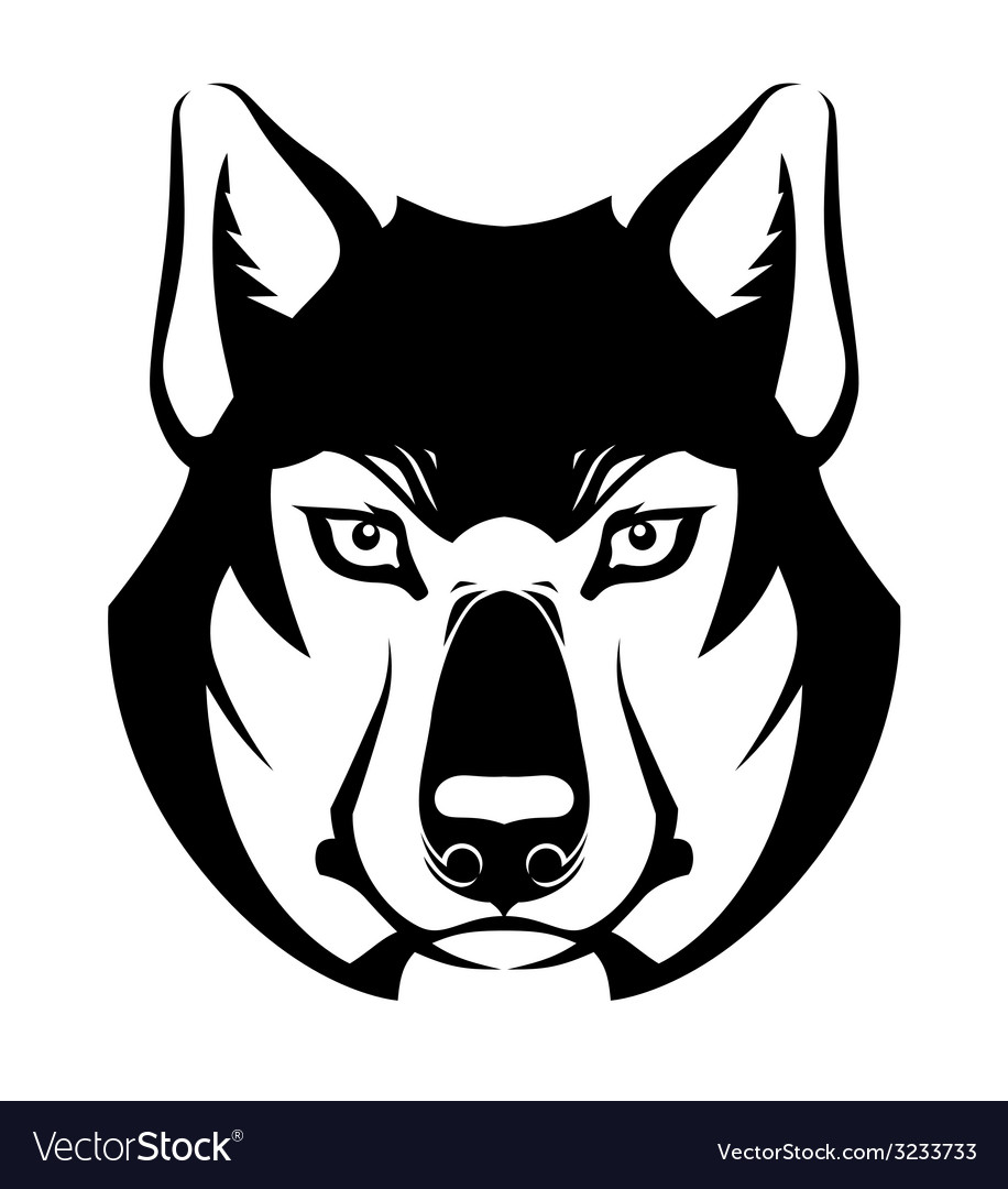 Wolf face symbol