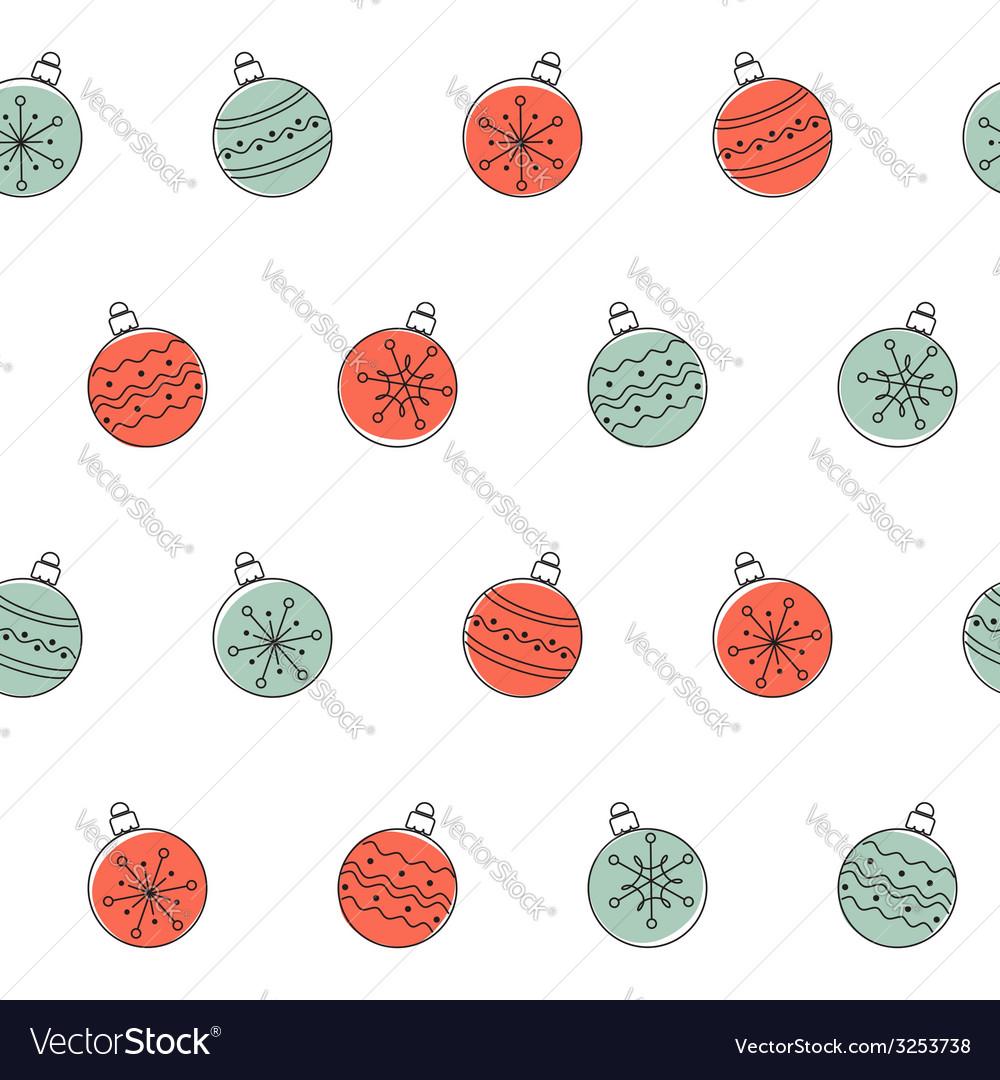 Christmas balls seamless background