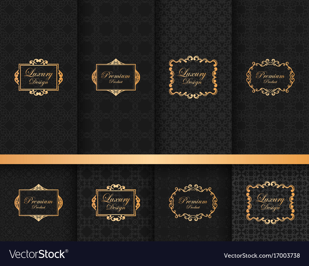 Collection of ornate backgrounds with frames