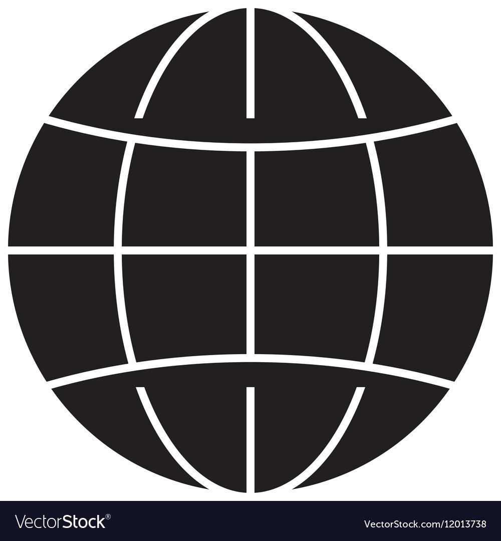 Earth globe diagram icon image