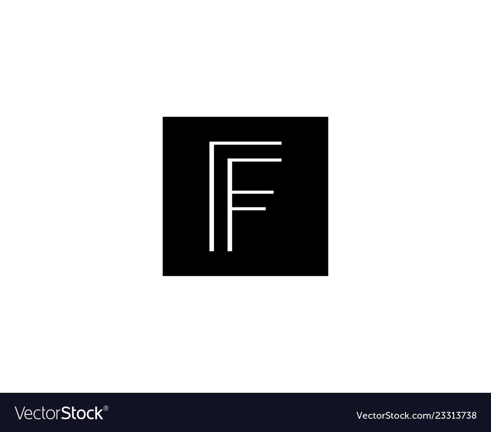F letter logo design for fashion business