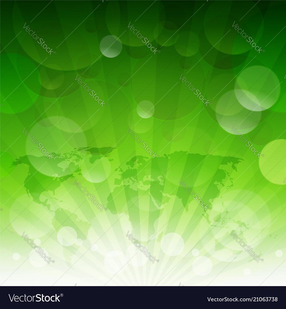 Green sunburst eco background with gradient mesh