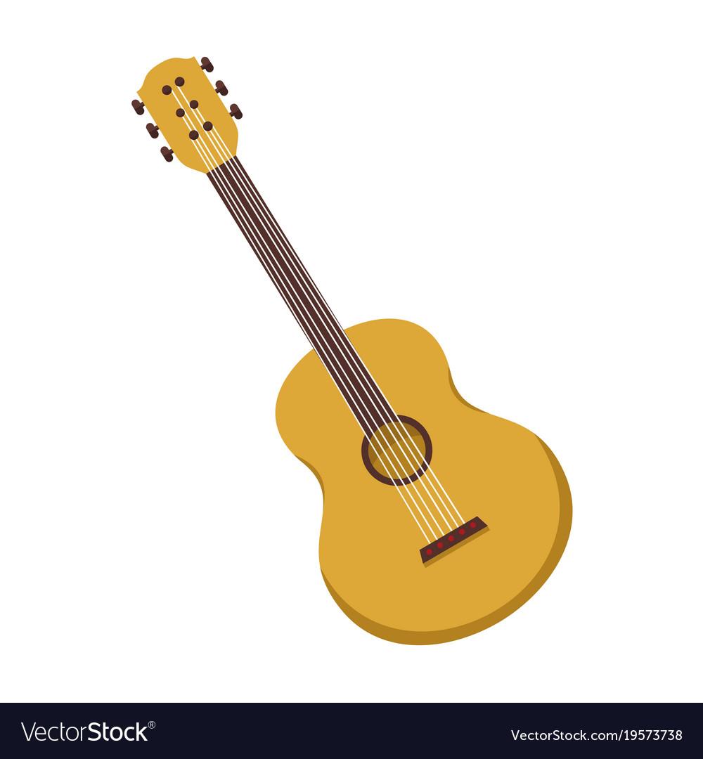 Simple acoustic guitar graphic