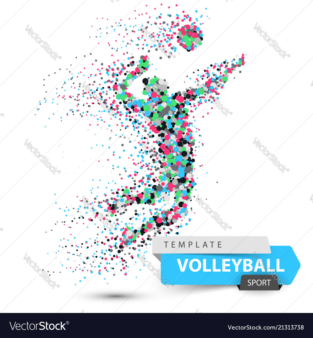 Volleyball player dot game