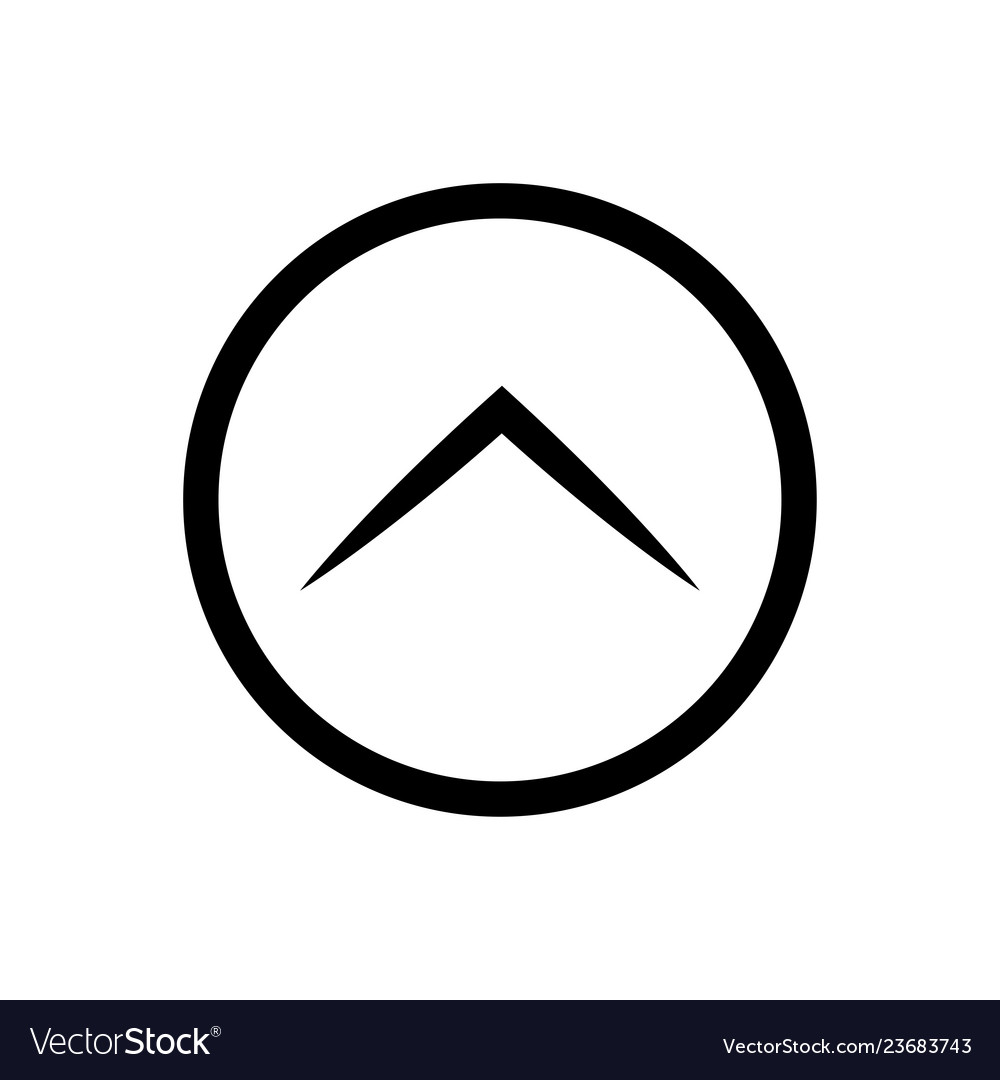 Arrow up rounded icon style is flat iconic symbol