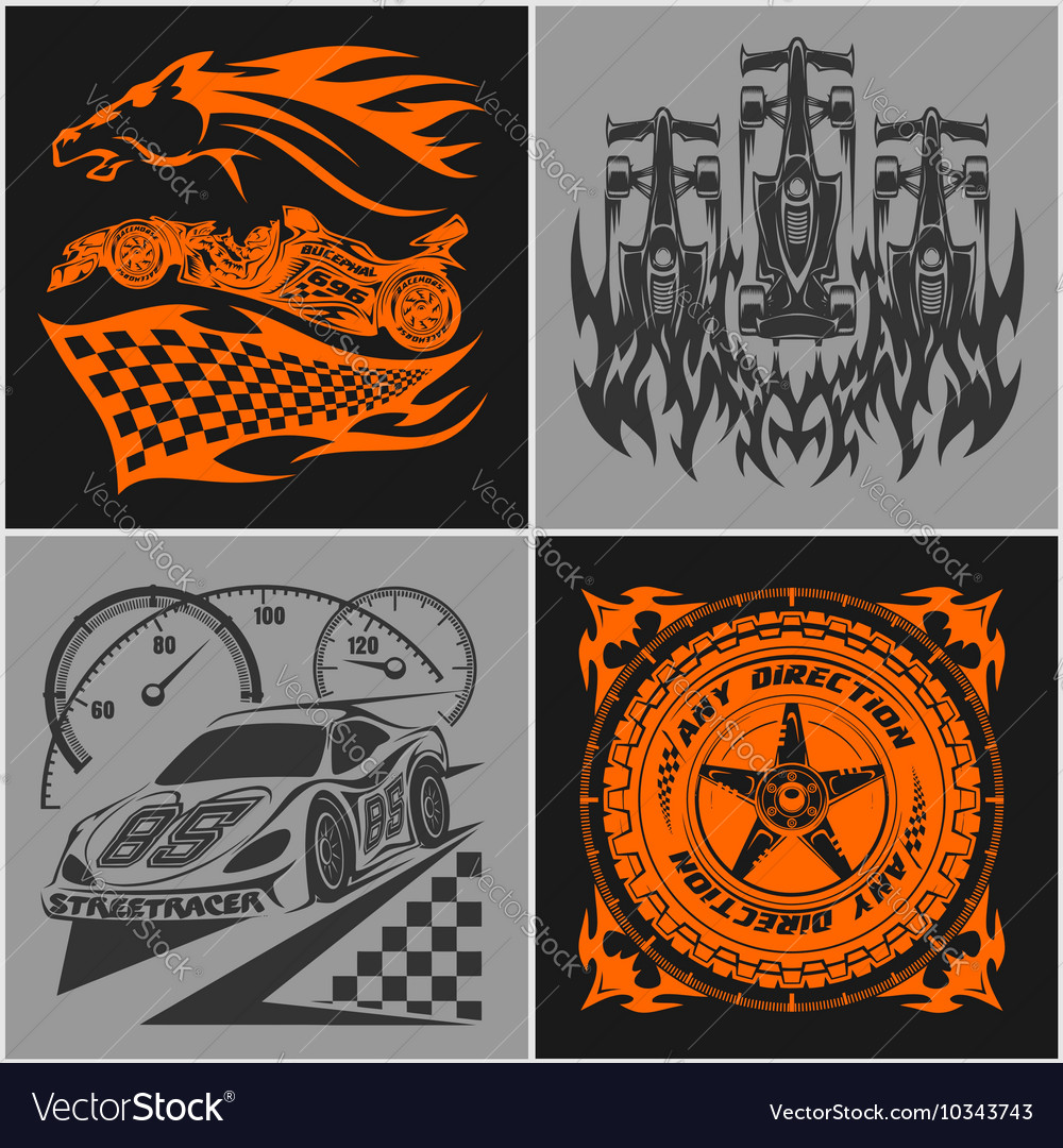 Auto racing emblems - Sport car logo