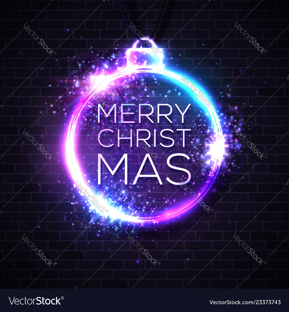 Christmas lights background xmas neon letters